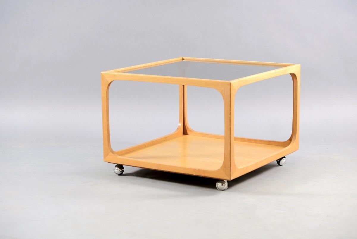 - Mid-Century Cubic Coffee Table In Ash Wood Bei Lieber Möbel Kaufen