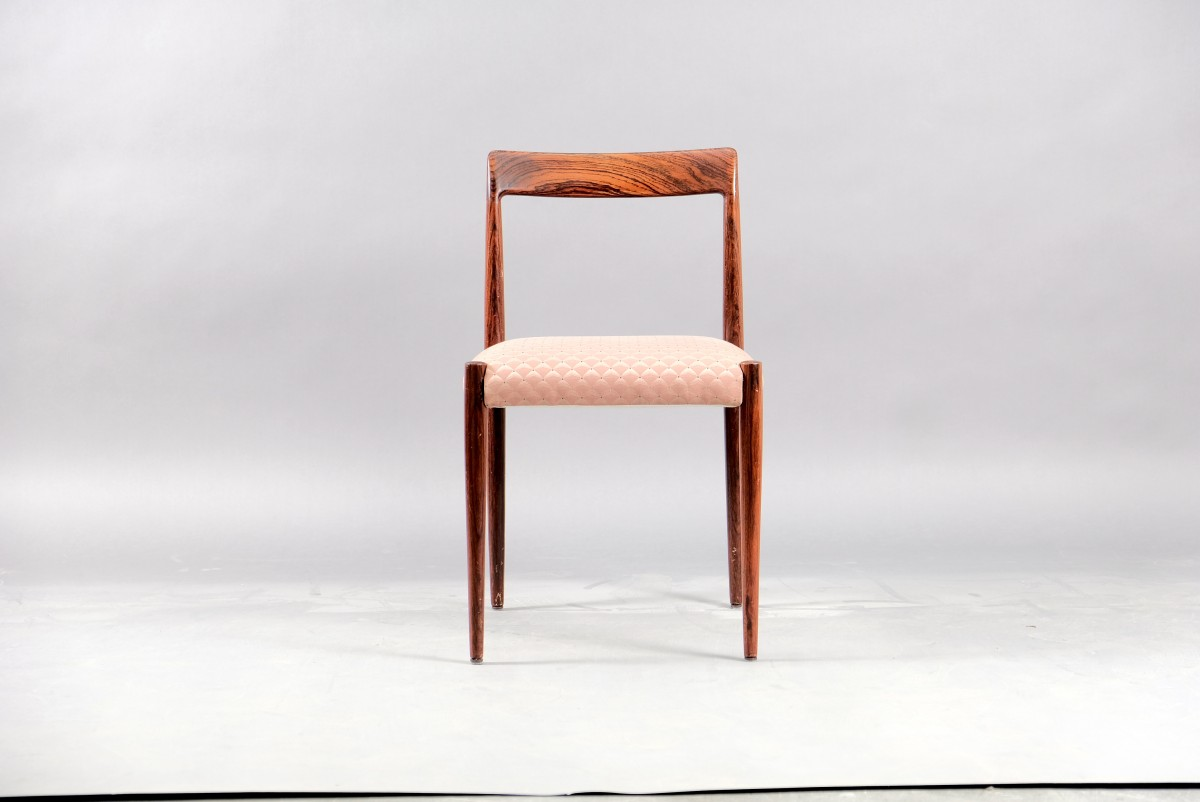 Mid-Century German Rosewood Dining Chairs from Lübke, 1960s, Set of 8