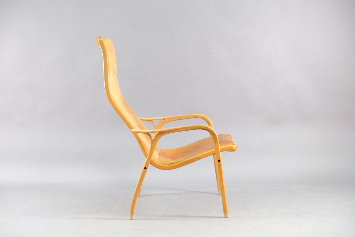 Cognac Leather Lamino Lounge Chair by Yngve Ekström for Swedese, 1960s