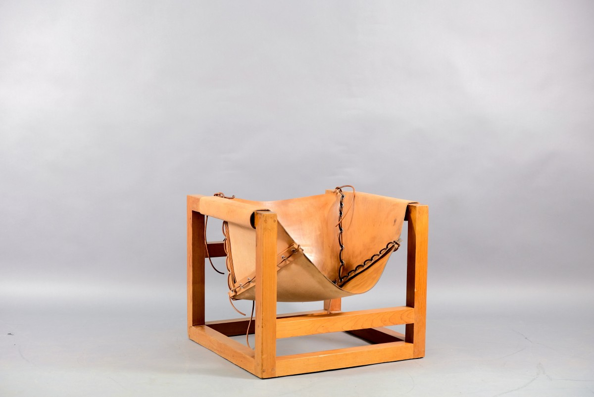 Mid-Century Cubistic German Tail 4 Lounge Chair by Heinz Witthoeft