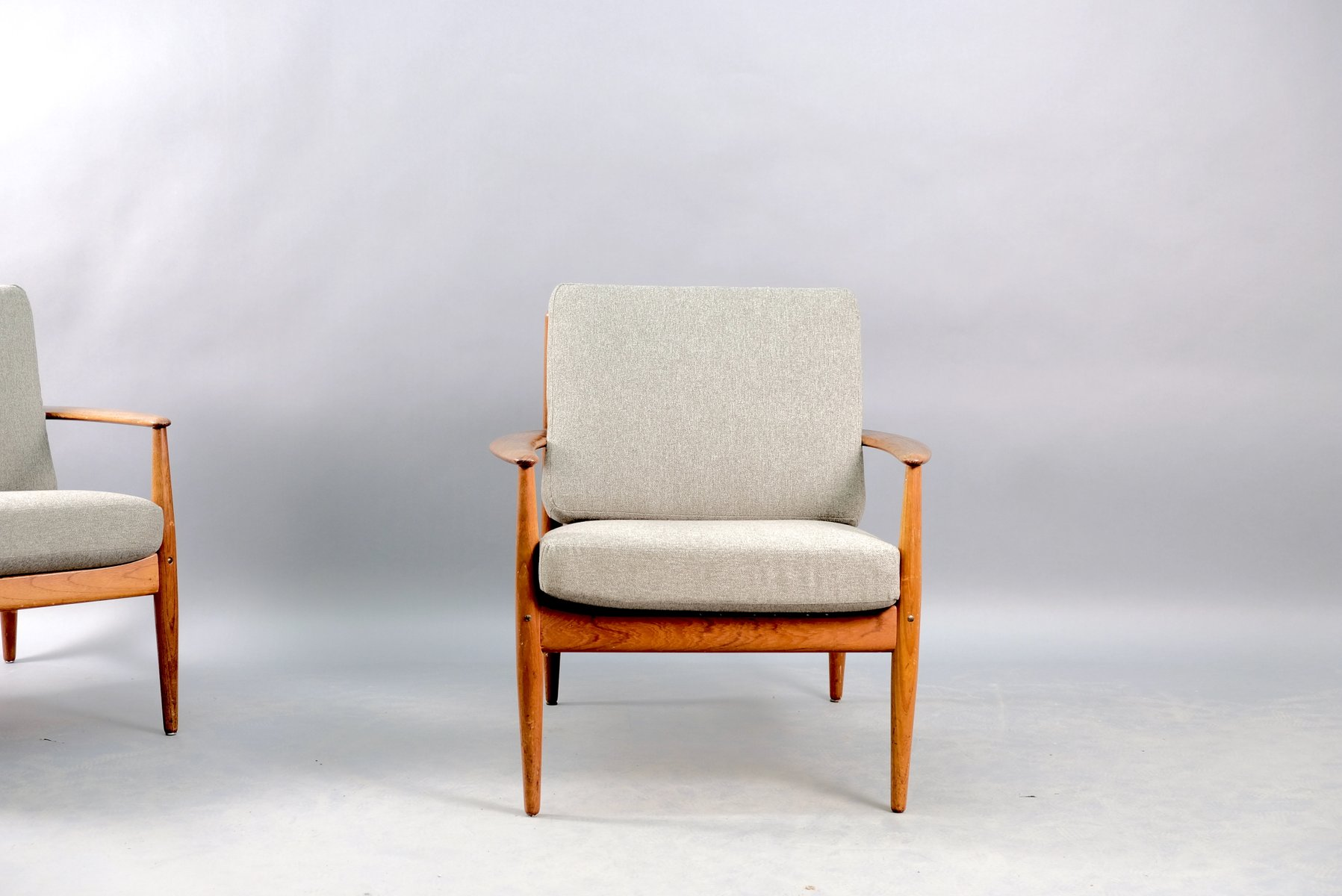 Mid-Century Danish Teak Lounge Chairs by Grete Jalk for France & Søn / France & Daverkosen, Set of 2