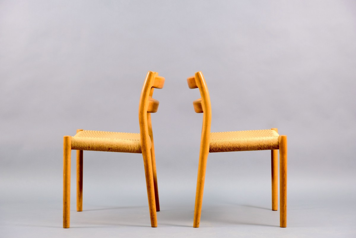 Mid-Century Dining Chairs by Niels Otto Møller for J.L. Møllers, Set of 2