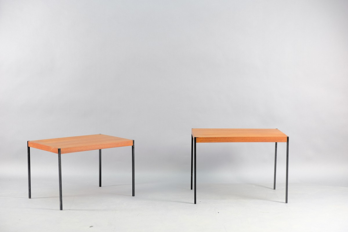 Mid-Century German Teak Side Tables, Set of 2