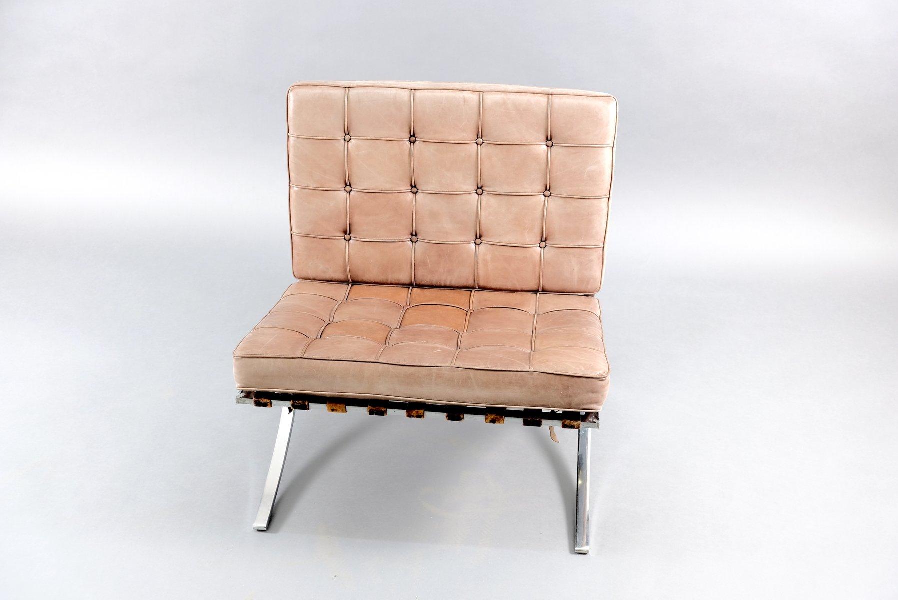 Isimar barceloneta stapelbarer gartenstuhl aus aluminium. Vintage Barcelona Stuhl von Ludwig Mies van der Rohe für ...