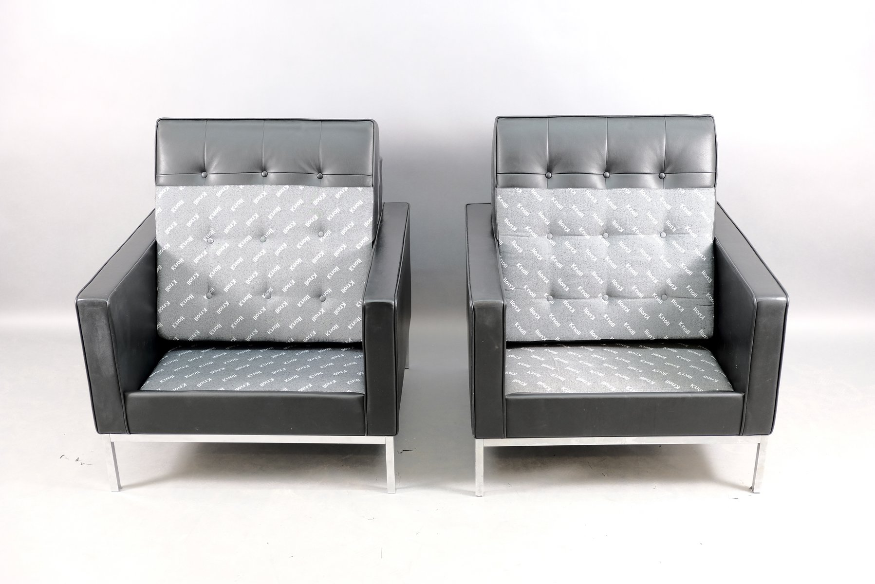 Vintage Lounge Chairs by Florence Knoll Bassett for Knoll Inc. / Knoll International, Set of 2
