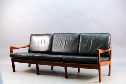 Mid-Century 3-Seater Sofa by Illum Wikkelsø for Niels Eilersen, 1960s