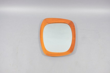 Mid-Century Asymmetrical Swedish Wall Mirror by Uno & Östen Kristiansson for Luxus