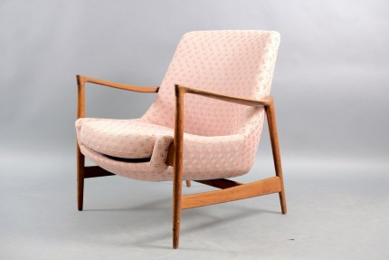 Mid-Century Lounge Chair by Ib Kofod Larsen for Fritz Hansen