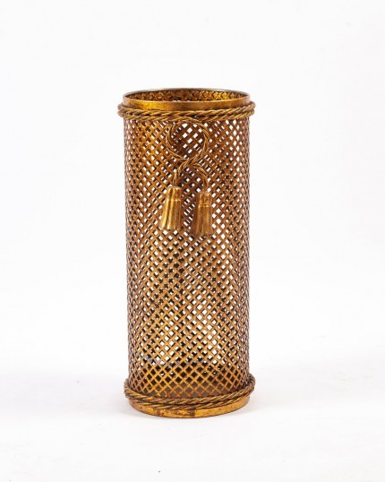 Vintage German Regency Golden Umbrella Stand, 1970s