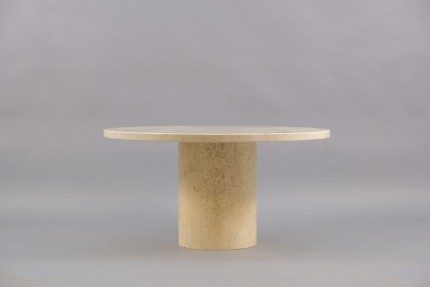 Vintage Italian Travertine Coffee Table, 1970s