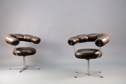 Vintage Lounge Chairs from Tamburin, 1970s, Set of 2