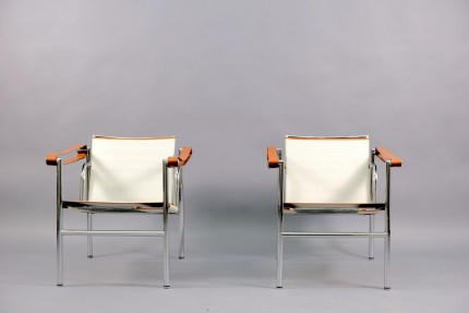 Vintage Model LC1 Lounge Chairs by Le Corbusier for Cassina, Set of 2