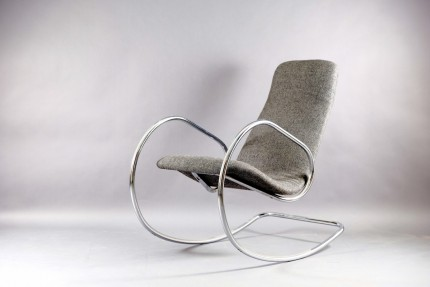 Vintage Model S 826 Rocking Chair by Böhme Ulrich for Thonet