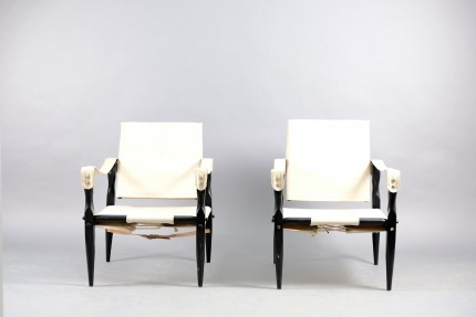 Vintage Safari Lounge Chairs by Wilhelm Kienzle for Wohnbedarf, Set of 2
