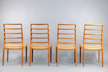 Vintage Teak Model 83 Dining Chairs by Niels Otto Møller for J.L. Møllers, 1970s, Set of 4